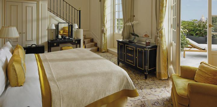 Paris Shangri-La Hotel with Duplex Eiffel Terrace Suite